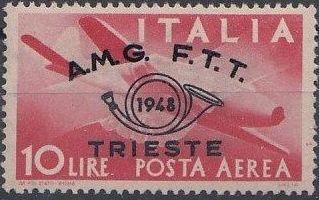 Trieste-Zone A 1948 Trieste Philately Congress-Air Post Stamps e.jpg