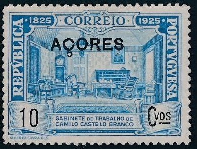 Azores 1925 Birth Centenary of Camilo Castelo Branco g.jpg