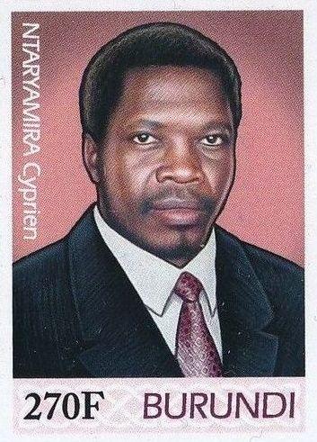 Burundi 2012 Presidents of Burundi - Cyprien Ntaryamira e.jpg