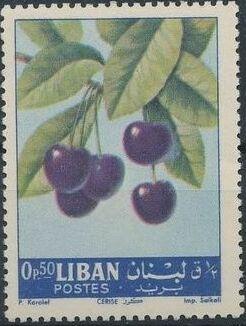 Lebanon 1962 Fruits