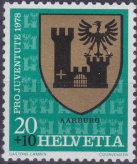 Switzerland 1978 PRO JUVENTUTE - Municipal Coat of Arms