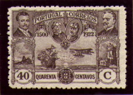 Portugal 1923 First flight Lisbon Brazil k.jpg