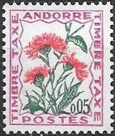 Andorra-French 1965 Flowers - 2nd Group (Postage Due Stamps)