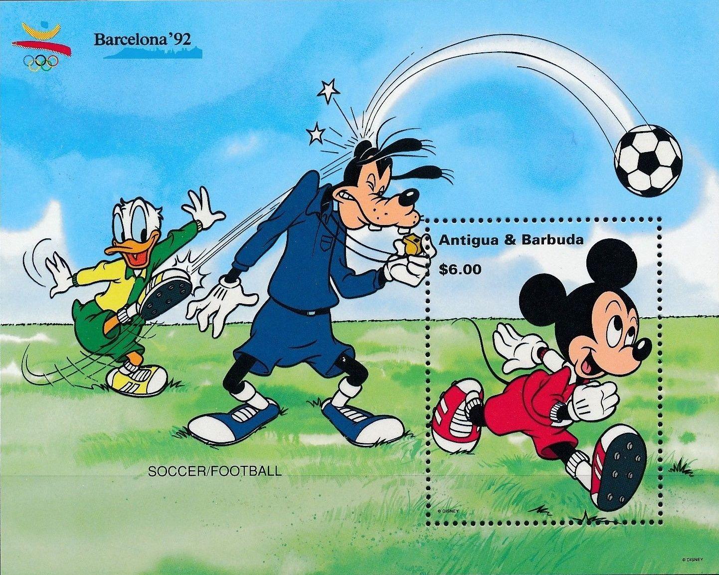 Antigua and Barbuda 1992 Olympic Games Barcelona - Walt Disney Characters o.jpg