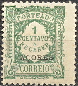 Azores 1923 Postage Due Stamps of Portugal Overprinted (2nd Group) b.jpg