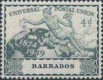 Barbados 1949 75th Anniversary of Universal Postal Union UPU c.jpg