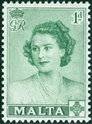 Malta 1950 Visit of Princess Elizabeth