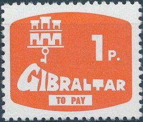 Gibraltar 1976 Postage Due Stamps