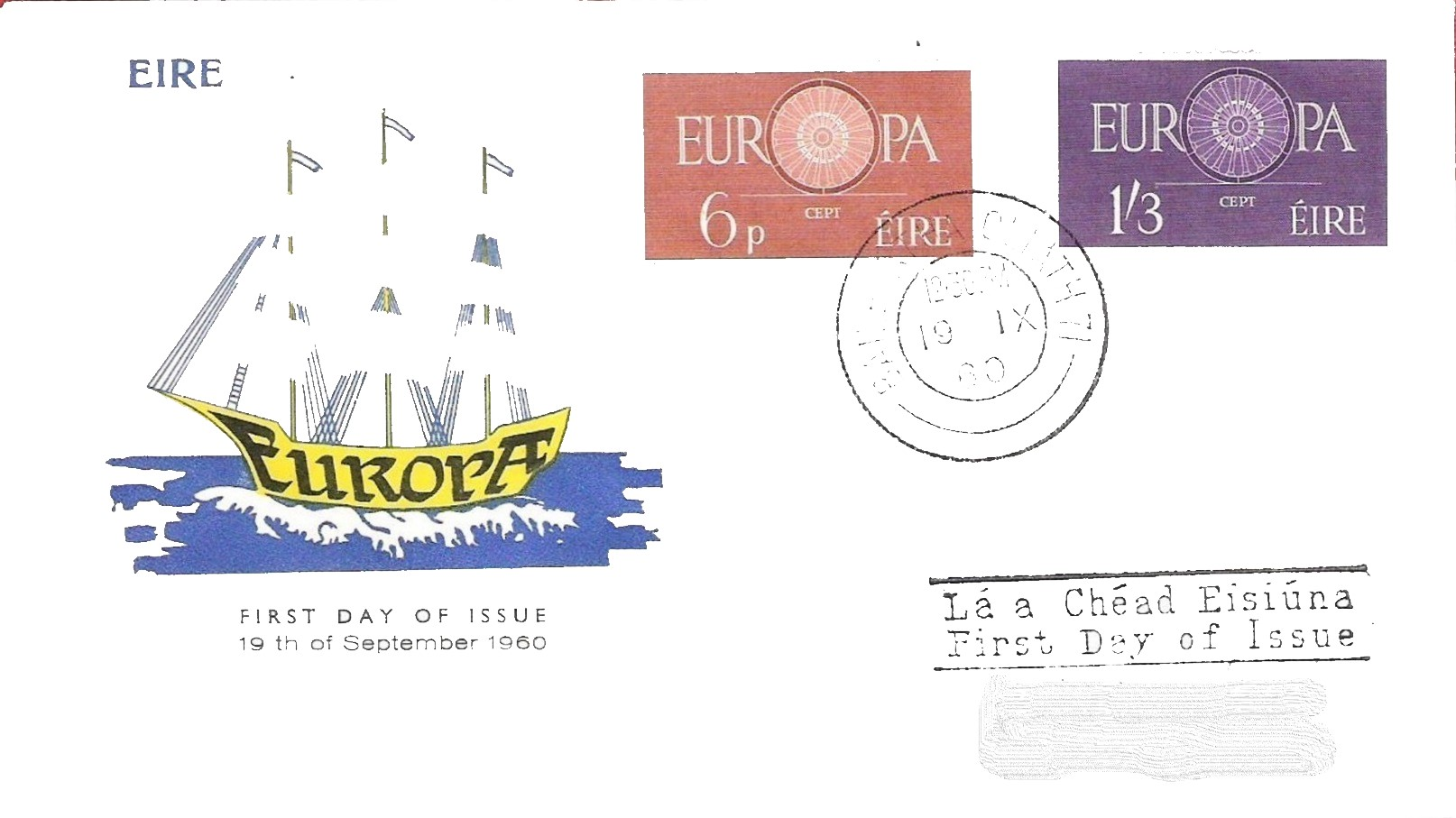 Ireland 1960 Europa FDCb.jpg