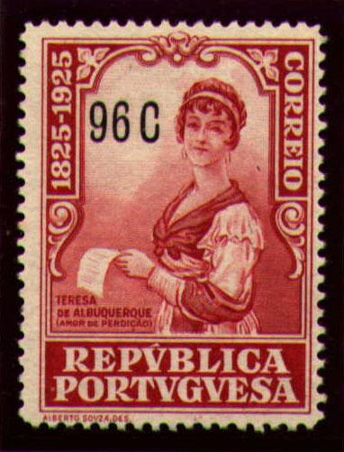 Portugal 1925 Birth Centenary of Camilo Castelo Branco t.jpg