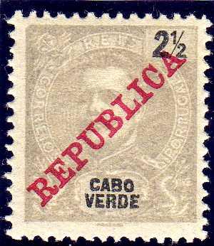 Cape Verde 1911 D. Carlos I Overprinted