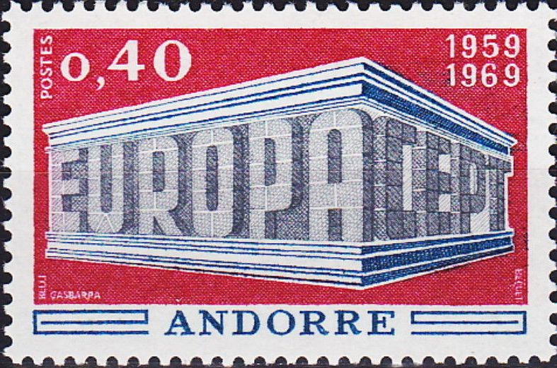 Andorra-French 1969 Europa