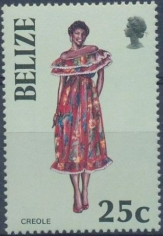 Belize 1986 Women in Folk Costumes d.jpg