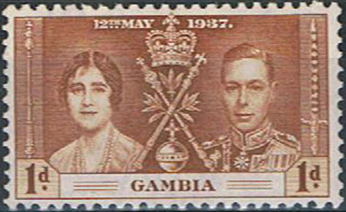 Gambia 1937 George VI Coronation