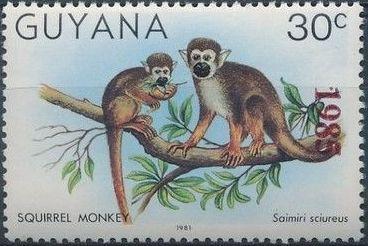 Guyana 1985 Wildlife (Overprinted 1985) c.jpg