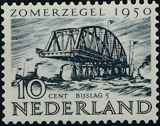 Netherlands 1950 Surtax for Social and Cultural Works e.jpg