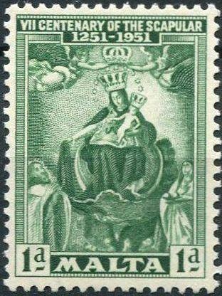 Malta 1951 700th Anniversary of the Scapular