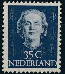 Netherlands 1949 Queen Juliana - En Face (1st Group) i.jpg
