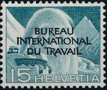 Switzerland 1950 Landscapes and Technology Official Stamps for The International Labor Bureau d.jpg