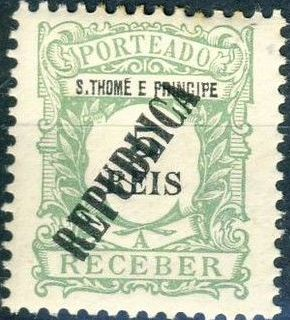 St Thomas and Prince 1913 Postage Due Stamps - 1st Overprint