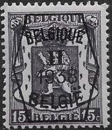 Belgium 1938 Coat of Arms - Precancel (2nd Group)