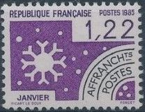 France 1985 Months of the Year - Pre-cancelled (1st Issue)
