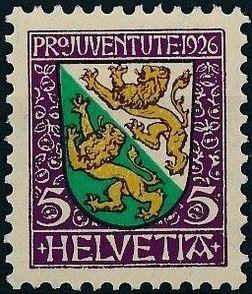 Switzerland 1926 PRO JUVENTUTE - Coat of Arms