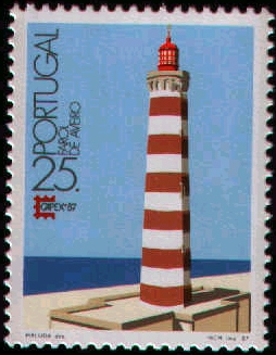 Portugal 1987 Lighthouses and International Stamp exhibition CAPEX 87