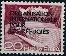 Switzerland 1950 Landscapes and Technology Official Stamps for The International Organization for Refugees c.jpg