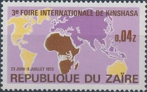 Zaire 1973 3rd International Fair in Kinshasa