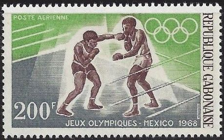 Gabon 1968 19th Summer Olympic Games Mexico City d.jpg