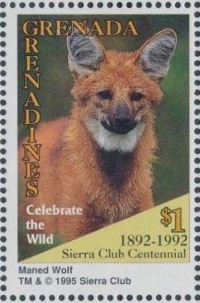 Grenada Grenadines 1995 100th Anniversary of Sierra Club - Endangered Species r.jpg
