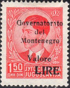 Montenegro 1941 Yugoslavia Stamps Surcharged under Italian Occupation b.jpg