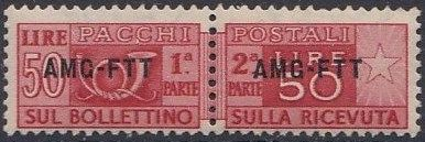 Trieste-Zone A 1950 Parcel Post Stamps of Italy 1946-54 Overprint b.jpg