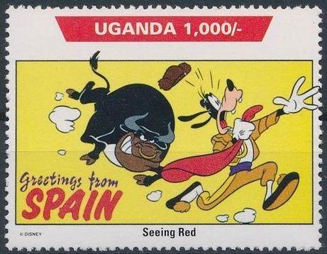 Uganda 1992 Walt Disney Characters on World Tour g.jpg