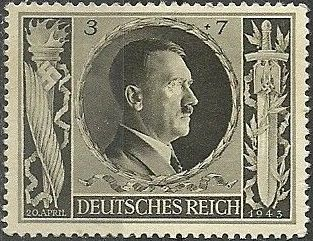 Germany-Third Reich 1943 Adolf Hitler's 54th Birthday and Culture Fund.