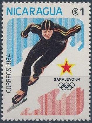 Nicaragua 1984 Winter Olympics - Sarajevo' 84 c.jpg
