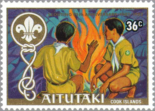 Aitutaki 1983 75th Anniversary of Scouting