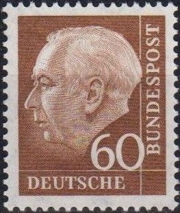 Germany, Federal Republic 1957 Pres. Theodor Heuss d.jpg