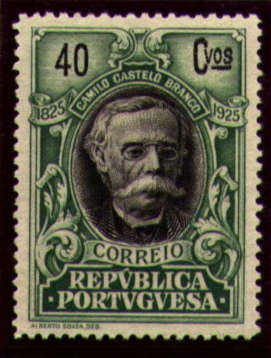 Portugal 1925 Birth Centenary of Camilo Castelo Branco n.jpg