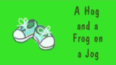 JumpStart 1st Grade (1995) - A Hog and a Frog on a Jog Book