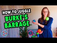 Learn to juggle BURKE'S BARRAGE - Intermediate Juggling Tutorial