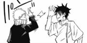 Yuta high-fives Toge