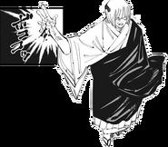 Uraume using Reverse Cursed Technique