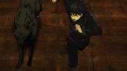 Megumi using Divine Dog to find Nobara (Anime)