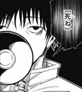 Yuta using Cursed Speech