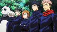 Tokyo Jujutsu students at the Goodwill Event (Anime)
