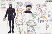 Satoru Gojo Anime Concept Art 1