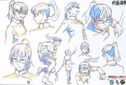 Maki Zenin Anime Concept Art