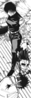 Maki walks past Ranta's body as she holds Jinichi's head